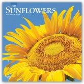 Sunflowers - Sonnenblumen 2021 - 18-Monatskalender