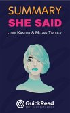 "Summary of ""She Said"" by Jodi Kantor and Megan Twohey (eBook, ePUB)"
