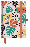 GreenLine Diary Happy Fruits 2021 - Buchkalender - Taschenkalender - 10x15