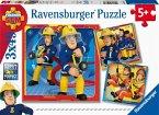 Ravensburger 05077 - Feuerwehrmann Sam, Unser Held Sam, Puzzle, 3x49 Teile