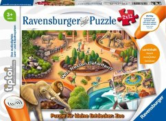 Ravensburger 00051 - tiptoi® Puzzle für kleine Entdecker: Zoo, 2x12 Teile