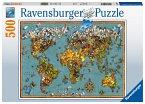 Antike Schmetterling-Weltkarte (Puzzle)