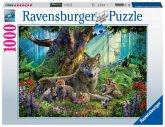 Wölfe im Wald (Puzzle)