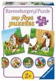 Ravensburger 05072 - my first puzzles, Tierfamilien auf dem Bauernhof, 9x2 Teile