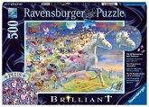 Ravensburger 15046 - Schmetterlingseinhorn, Brilliant Puzzle, 500 Teile