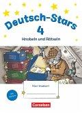 Deutsch-Stars 4. Schuljahr. Knobeln und Rätseln - Übungsheft. Mit Lösungen