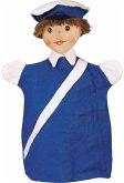 KERSA 15021 - Lina, Polizist blau, Kasperlepuppe, Puppe, Handpuppe