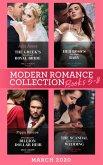 Modern Romance March 2020 Books 5-8: The Greek's Duty-Bound Royal Bride / Her Boss's One-Night Baby / Demanding His Billion-Dollar Heir / The Scandal Behind the Italian's Wedding (eBook, ePUB)