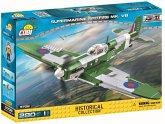 COBI Historical Collection 5708 - Supermarine Spitfire WWII Flugzeug, 280 Teile 1 Figur