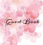 Guest Book: Pink Watercolor Flowers White Hardcover Guestbook Blank No Lines 64 Pages Keepsake Memory Book Sign In Registry for a