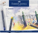Faber-Castell Farbstifte Goldfaber, 24er Set Metalletui