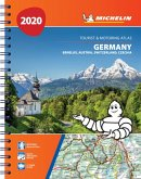 Germany, Benelux, Austria, Switzerland, Czech Republic 2020 - Tourist and Motoring Atlas (A4-Spiral)