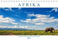 Afrika, eine Reise durch den schwarzen Kontinent (Tischkalender 2021 DIN A5 quer)