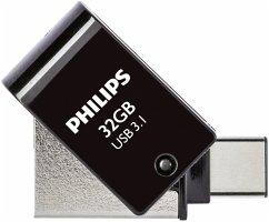 Philips 2 in 1 Black 32GB OTG USB C + USB 3.1