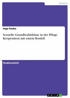 Sexuelle Grundbedürfnisse in der Pflege. Kooperation mit einem Bordell (eBook, PDF)