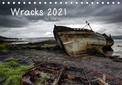 Wracks 2021 (Tischkalender 2021 DIN A5 quer)
