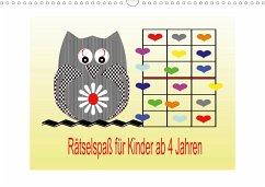 Rätselspaß für Kinder ab 4 Jahren/AT-Version (Wandkalender 2021 DIN A3 quer)