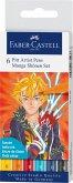 Faber-Castell Tuschestifte Pitt Artist Pens, 6er Set Manga Shonen