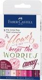 Faber-Castell Tuschestifte Pitt Artist Pens Lettering, 8er Set Pinktöne