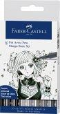 Faber-Castell Tuschestifte Pitt Artist Pens, 8er Set Manga Basic Set