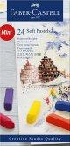 Faber-Castell Softpastellkreiden Mini, 24er Set Etui