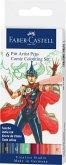 Faber-Castell Tuschestifte Pitt Artist Pens, 6er Comic Colouring Set