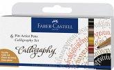 Faber-Castell Tuschestifte Pitt Artist Pens Calligraphy, 6er Set