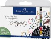 Faber-Castell Tuschestifte Pitt Artist Pens Calligraphy, 8er Set