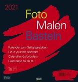 Foto-Malen-Basteln Bastelkalender schwarz groß 2021