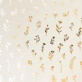 Geschenkpapier Ostern, Streublumen, Gold, FSC Mix