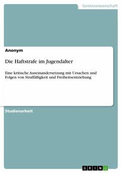 Die Haftstrafe im Jugendalter (eBook, PDF)