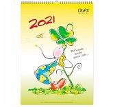 Oups Wandkalender 2021 - Mit Freude durchs ganze Jahr...