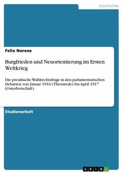 Burgfrieden und Neuorientierung im Ersten Weltkrieg (eBook, PDF)