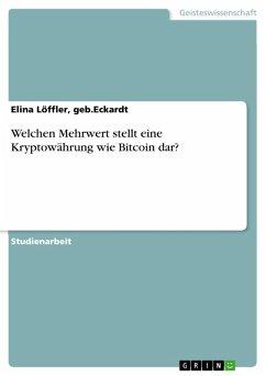 Welchen Mehrwert stellt eine Kryptowährung wie Bitcoin dar? (eBook, PDF)