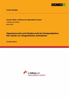 Eigentumsrecht und Urheberrecht bei Designobjekten. Der Schutz vor fotografischen Aufnahmen (eBook, PDF)