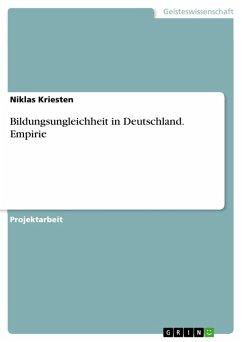 Bildungsungleichheit in Deutschland. Empirie (eBook, PDF)
