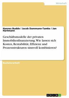 Geschäftsmodelle der privaten Immobilienfinanzierung. Wie lassen sich Kosten, Rentabilität, Effizienz und Prozessstrukturen sinnvoll kombinieren? (eBook, PDF) - Budde, Hannes; Dammann-Tamke, Jacob; Hartmann, Jan