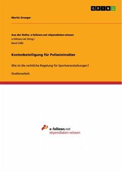 Kostenbeteiligung für Polizeieinsätze (eBook, PDF)