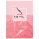 Adressbuch mit Geburtstagskalender   Kontaktbuch in DIN A5  Telefonregister & Adressbuch mit Telefonnummer, Adresse, E-Mail   Telefonbuch rosa