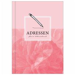 Adressbuch mit Geburtstagskalender   Kontaktbuch in DIN A5  Telefonregister & Adressbuch mit Telefonnummer, Adresse, E-Mail   Telefonbuch rosa - Wirth, Lisa