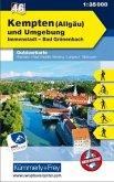 Kümmerly+Frey Outdoorkarte Kempten (Allgäu) und Umgebung, Immenstadt, Bad Grönenbach