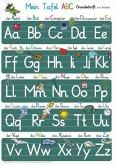 Mein Tafel-ABC Grundschrift mit Artikeln Lernposter, glänzend, 300g, 32 x 46 cm