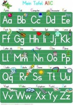 Mein Tafel-ABC Druckschrift Lernposter DIN A3 laminiert