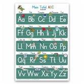 Mein Tafel-ABC Druckschrift Lernposter DIN A4 laminiert