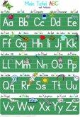 Mein Tafel-ABC Druckschrift mit Artikeln Lernposter DIN A4 laminiert