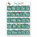 Mein Tafel-ABC Druckschrift mit Artikeln Lernposter, glänzend, 300g, 32 x 46 cm