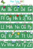 Mein Tafel-ABC Druckschrift mit Artikeln Lernposter DIN A3 laminiert