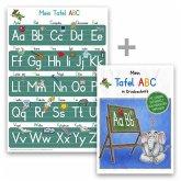 Mein Tafel-ABC Druckschrift Lernposter DIN A3 + Schreiblernheft DIN A4, 2 Teile