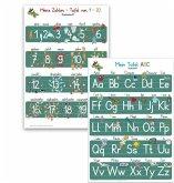 Mein Tafel-ABC Druckschrift + Meine Zahlen-Tafel von 1-20, 2 Lernposter, glänzend, 300g, 32 x 46 cm