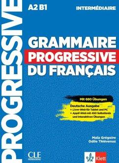 Grammaire progressive du français - intermédiaire. Schülerbuch + Audio-CD + Online - Grégoire, Maïa; Thiévenaz, Odile